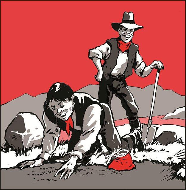 Black i Taylor zakopali kilogramy cennych kamieni w Kolorado /rys. Andrzej Fonfara /Śledztwo