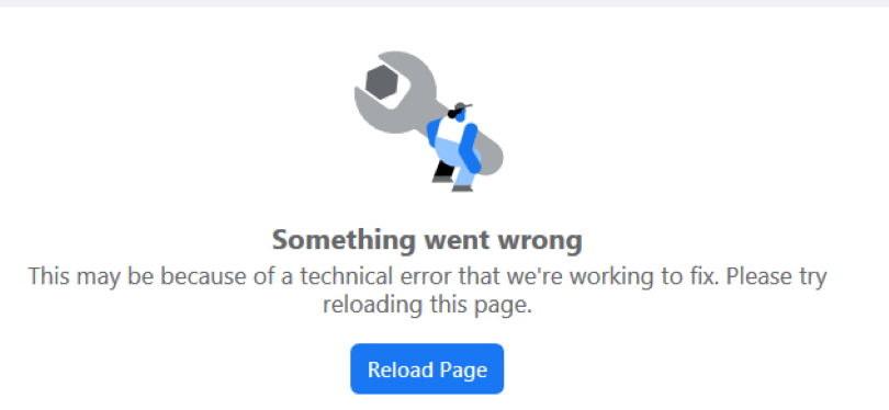 Błąd związany z problemami technicznymi Facebooka /INTERIA.PL