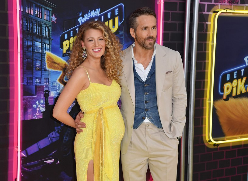 "Blake Lively i Ryan Reynolds na premierze ""Pokemona"" /East News"