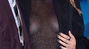 Blake Lively w prześwitującej bluzce bez stanika!