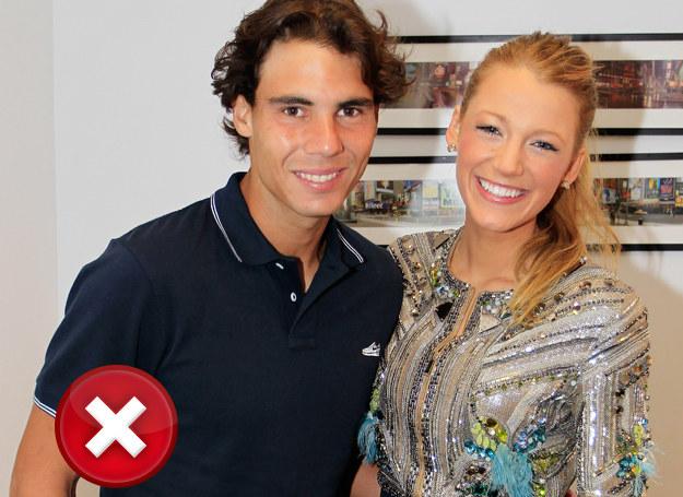 Blake na spotkanie ze znanym tenisistą, Nadalem, nie wybrała odpowiedniego fasonu /Getty Images
