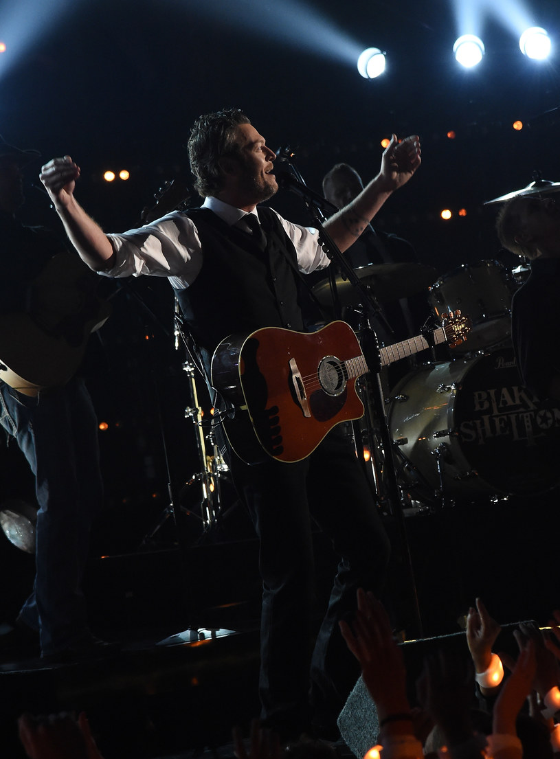 Blake Shelton podczas gali CMA /fot. Rick Diamond /Getty Images