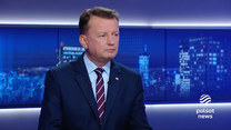 """Błaszczak w """"Gościu Wydarzeń"""" o stanie wyjątkowym: Polski rząd nie boi się mediów w strefie przygranicznej"""