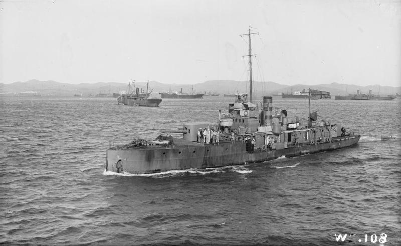 Bliźniak HMS M.33 - M.30 w czasie desantu na półwysep Gallipoli /INTERIA.PL/materiały prasowe