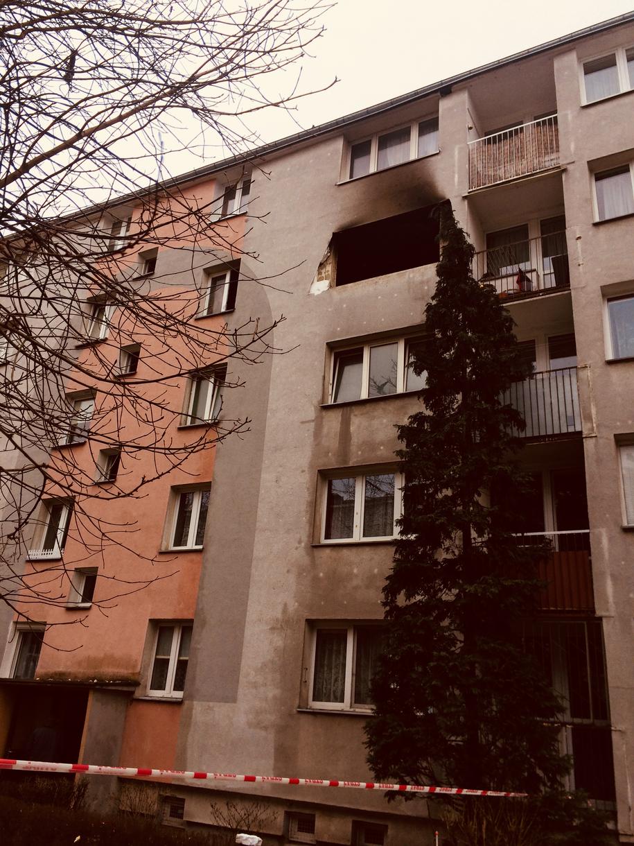 Blok, w którym doszło do wybuchu gazu /Agnieszka Wyderka /RMF FM