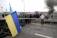 Blokada drogi na Ukrainie