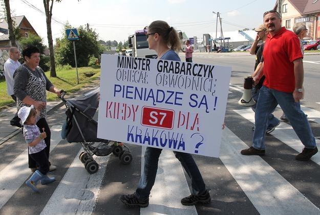 Blokada drogi nr 7 /PAP