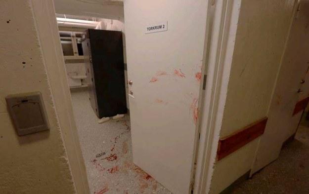 Blokowa pralnia, w której 50-letni Polak zaatakował kobietę młotkiem /foto. Polisen /