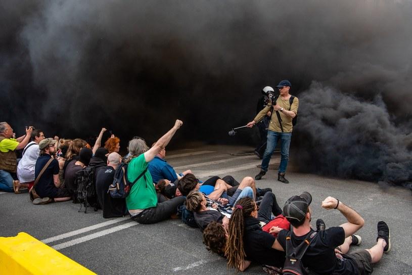 Blokowali przemarsz /Stanislaw Kusiak /East News