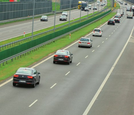 blokowanie lewego pasa ruchu /Motor