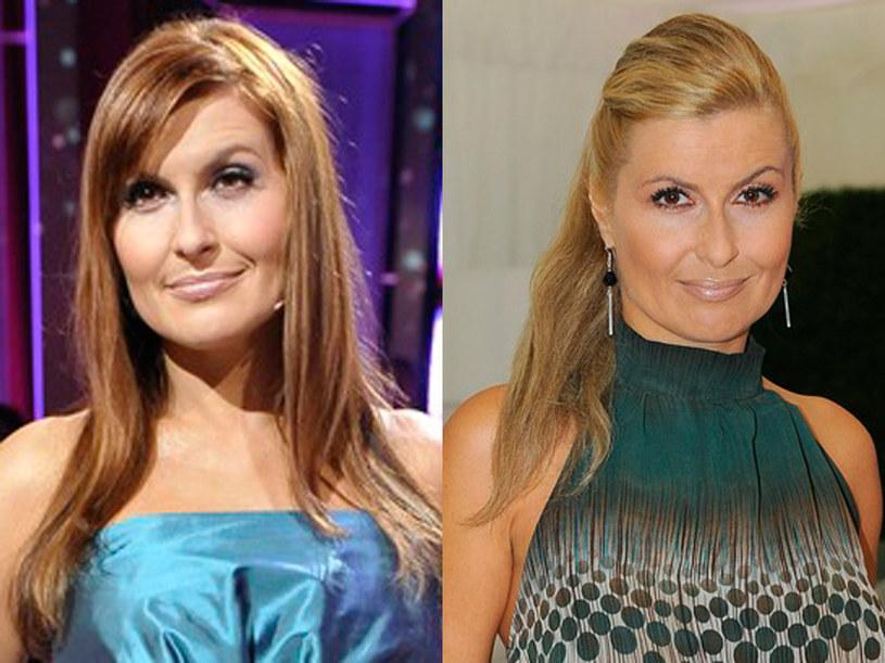 Blond za bardzo kontrastował z opaloną skórą aktorki  /AKPA