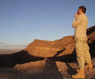 Blue Cafe na pustyni w Maroku