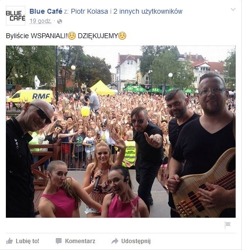Blue Cafe po koncercie w Ostródzie / Facebook /&nbsp /