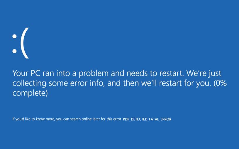 Blue Screen zazwyczaj oznacza groźny błąd systemu /123RF/PICSEL