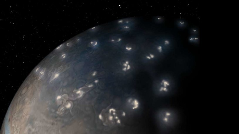 Błyskawice na Jowiszu są nieco inne niż na Ziemi /NASA