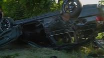 BMW dachowało. Sprawca zbiegł z miejsca wypadku?