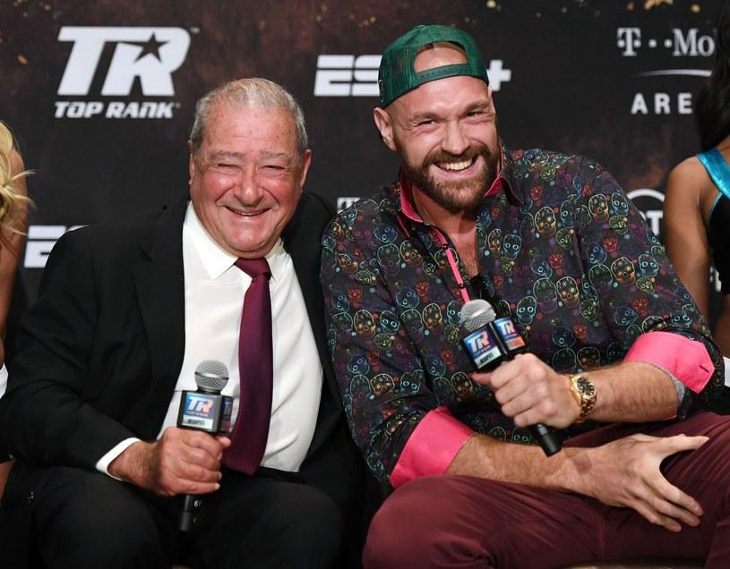 Bob Arum i Tyson Fury /AFP