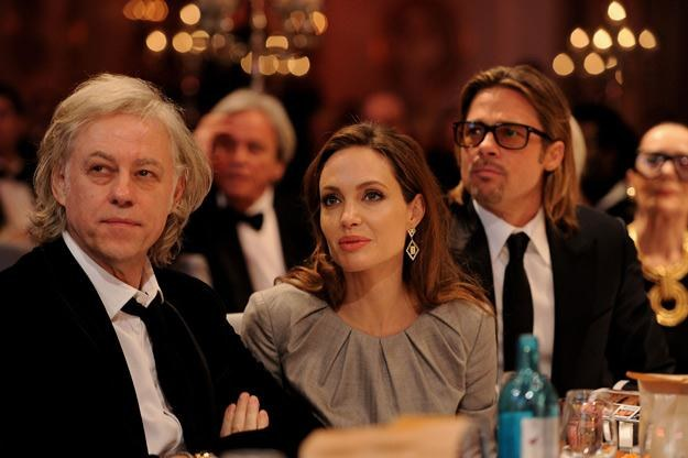 Bob Geldof i Brangelina na jednej z charytatywnych imprez - fot. Pascal Le Segretain /Getty Images/Flash Press Media