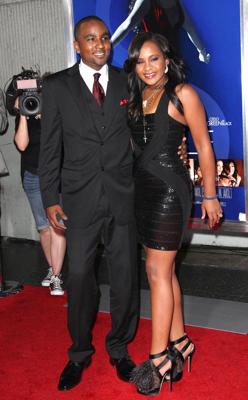 Bobbi Kristina Brown z mężem /Frederick M. Brown /Getty Images
