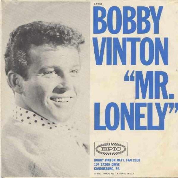 """Bobby Vinton na okładce płyty """"Mr. Lonely"""" /"""
