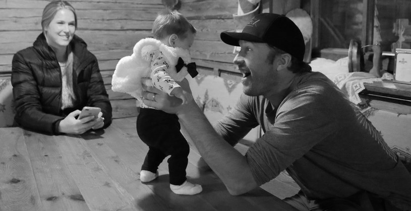 Bode Miller z córeczką /Pierre Teyssot / Splash News /East News