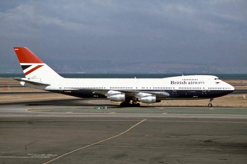 Boeing 747 linii British Airways, który brał udział w zdarzeniu (San Francisco, 1980) /Wikimedia Commons /domena publiczna