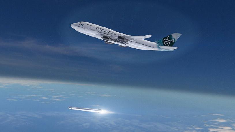 Boeing 747 uwalnia LauncherOne /materiały prasowe