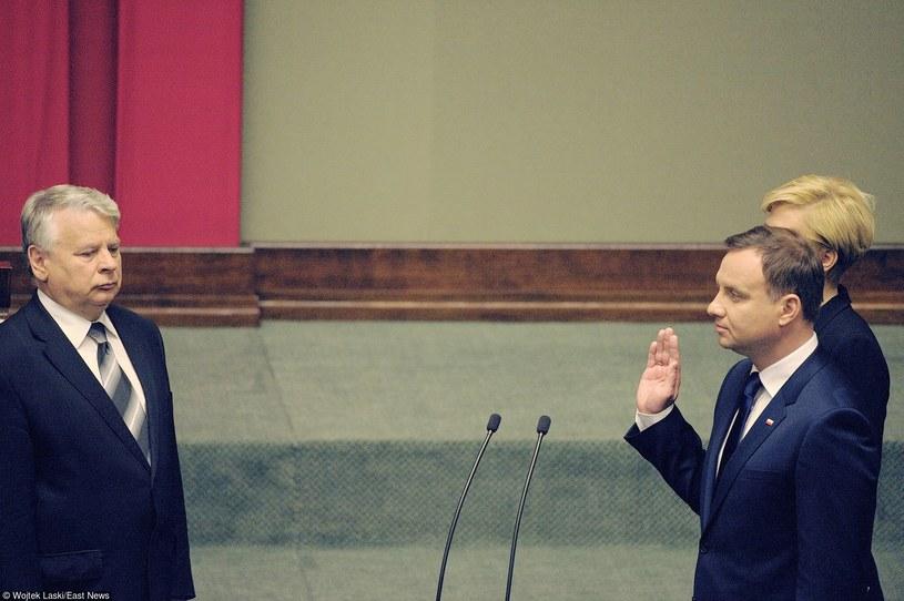 Bogdan Borusewicz podczas zaprzysiężenia Andrzeja Dudy /Wojtek Laski /East News