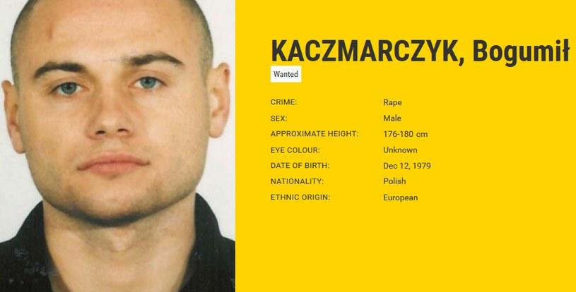 Bogumił Kaczmarczyk na liście najbardziej poszukiwanych przestepców w Europie /eumostwanted.eu /