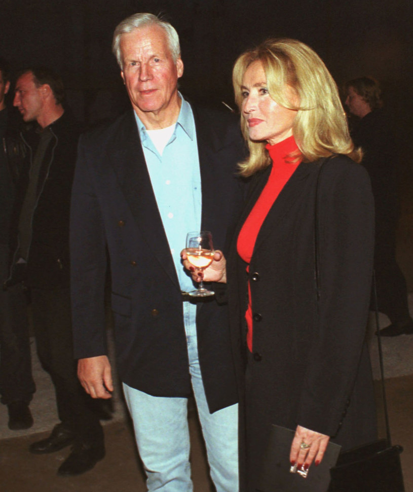 Bogumiła Wander i Krzysztof Baranowski, 2001 r. /Mieczyslaw Wlodarski /Reporter