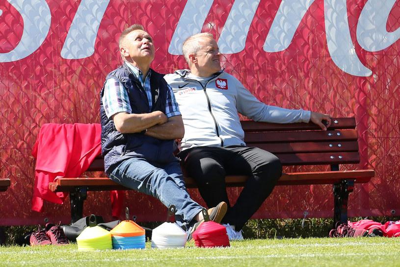 Bogusław Kaczmarek (z lewej) wygląda powrotu Ekstraklasy /Piotr Matusewicz /East News