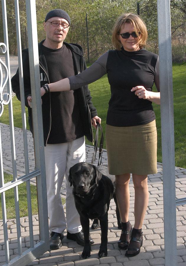 Bogusław Mec z żoną Jolantą - przeżyli razem prawie 40 lat /MWMedia