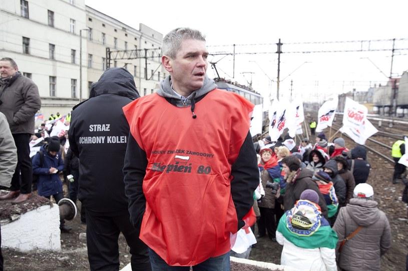 Bogusław Ziętek podczas strajku na Śląsku /Kasia Zaremba /East News
