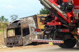 Bogusławice: Zderzenie autokaru i dwóch ciężarówek