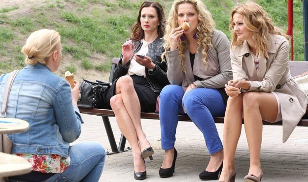 "Bohaterki serialu ""Przyjaciółki"" /Polsat"
