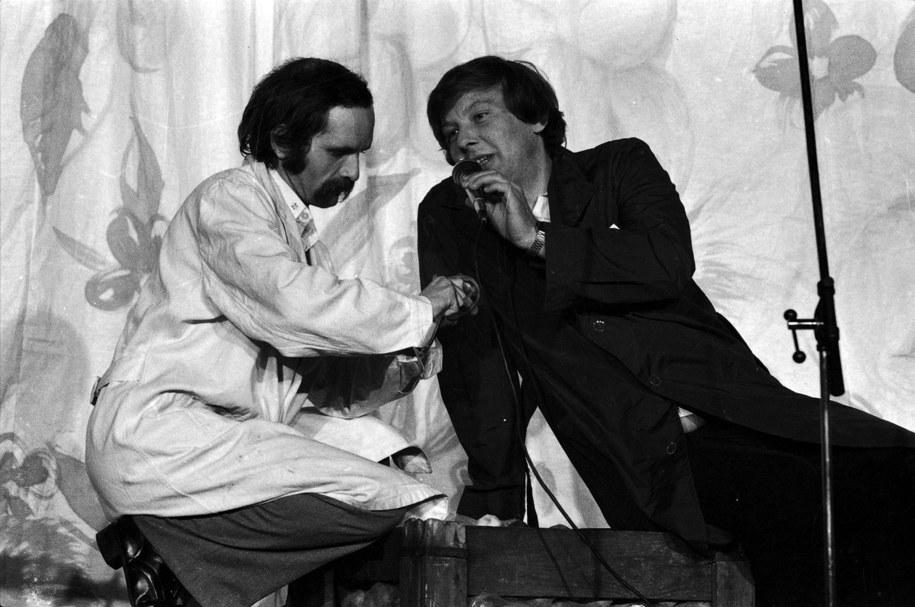 Bohdan Smoleń i Zenon Laskowik na zdj. z 1980 roku /CAF /Zbigniew Staszyszyn /PAP