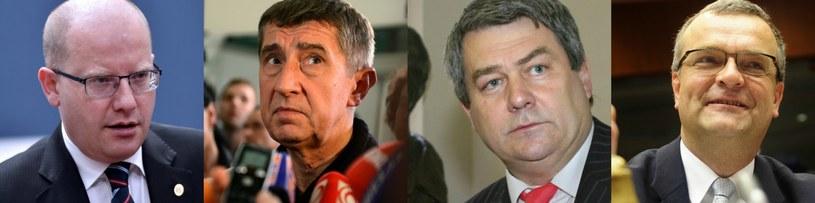 Bohuslav Sobotka, Andrej Babiš, Vojtěch Filip, Miroslav Kalousek /AFP