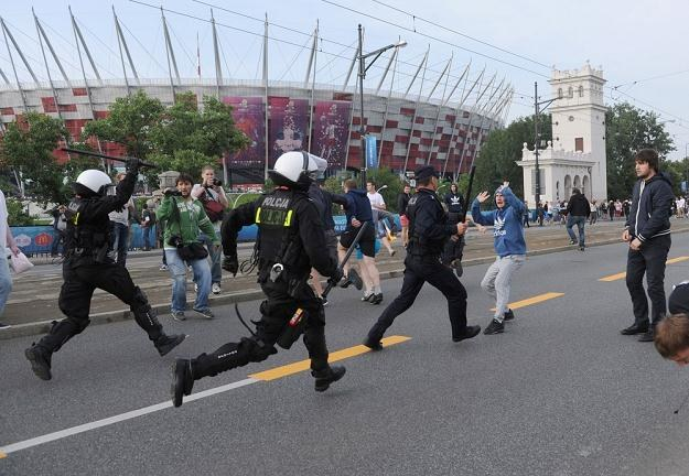 Bójki przed meczem Polska-Rosja w Warszawie / fot. B. Krupa /East News