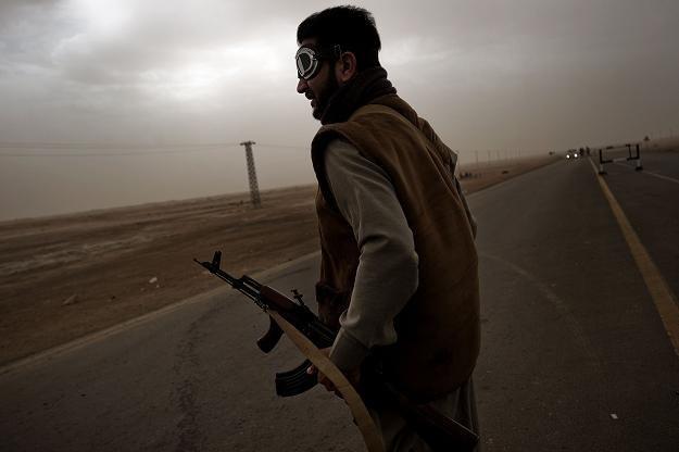 Bojownik sił antyrządowych /AFP
