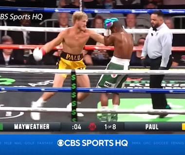 Boks - Floyd Mayweather jr pokonał Logana Paula w walce pokazowej. Wideo