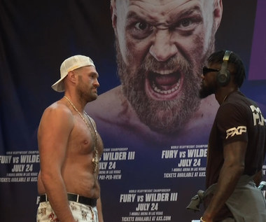 Boks. Fury i Wilder stanęli twarzą w twarz przed trzecim pojedynkiem. Wideo