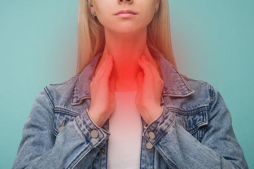 Ból gardła /©123RF/PICSEL