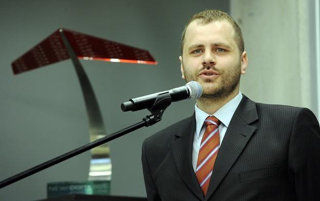 Bolesław Drapella, prezes Morizona, podczas debiutu na NewConnect /PAP