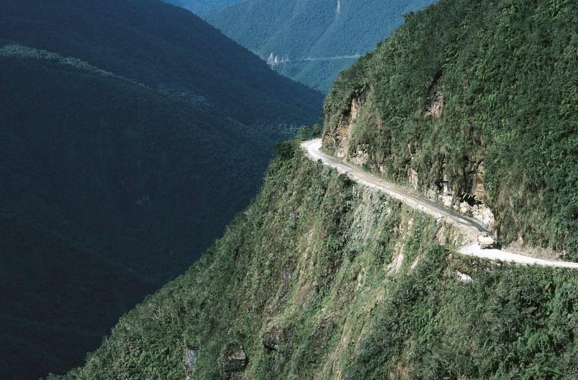 Boliwijska droga jest bardzo stroma / DEA / G. SIOEN / Contributor /Getty Images