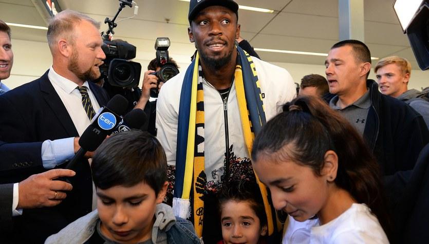 Bolt przyleciał na piłkarskie testy do Australii