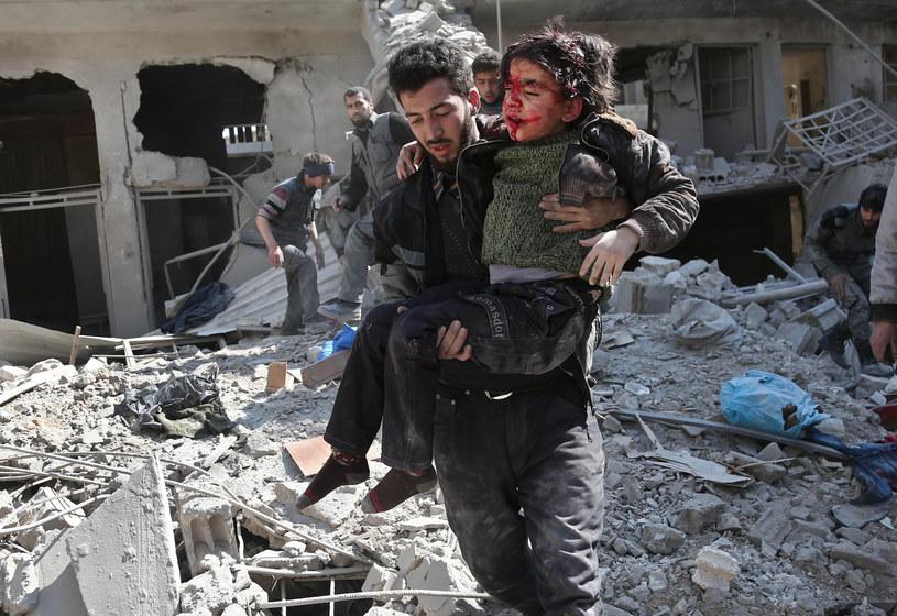 Bombardowania we Wschodniej Ghucie /ABDULMONAM EASSA /AFP