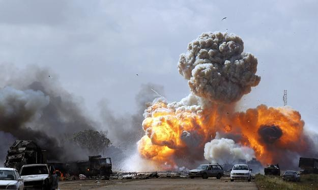 Bombardowanie Libii, fot. REUTERS/Goran Tomasevic /Agencja FORUM