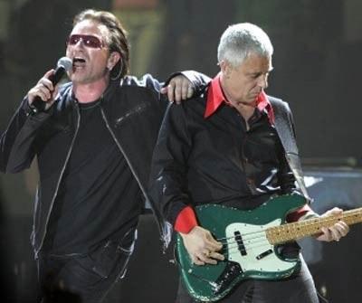 Bono i Adam Clayton (U2) /AFP