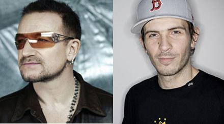 Bono z U2 (fot. Universal) i Ostry z Bałut (fot. Tom Bronowski/Asfalt Records) /