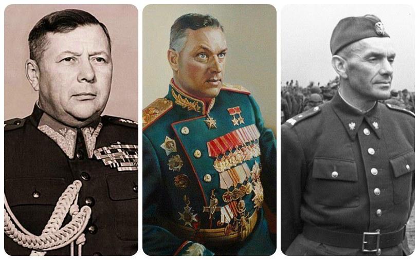Bordziłowski, Rokossowski i Berling - trzej z wielu tysięcy radzieckich oficerów w polskiej armii /INTERIA.PL